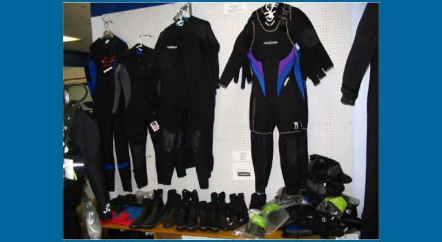 Wetsuits display